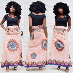 Ankara Skirt Maxi Skirt african print african skirt by Veroexshop