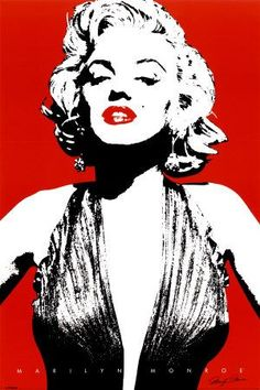 A red Marilyn Monroe poster in a classic 'Andy Warhol' pop art look. A great wall decoration for any Marilyn Monroe fan. Made by Black Ball Corp Arte Pop, Pin Up, Andy Warhol, Pop Art Marilyn Monroe, Marilyn Monroe Stencil, Images Pop Art, Art Rouge, Pop Art Lips, Laser Tag