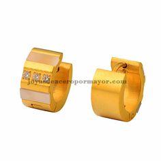 huggies de oro dorado en acero inoxidable para mujer SSEGG832865