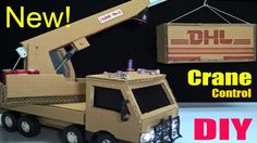 How to make a Crane Truck at home - Car Remote Control using Cardboard (Electric Truck) - YouTube