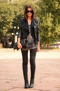 Leather Pant - Look inspiração - calça de couro - inverno