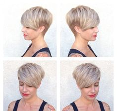 Gray Lace Frontal Wigs demi permanent hair color for grey coverage – Fashion Wigs Pixie Hairstyles, Pixie Haircut, Hairstyles 2016, Short Haircuts, Short Blonde, Blonde Hair, Grey Wig, Hair Pulling, Hair Cover