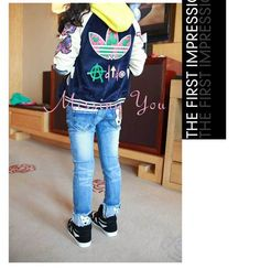 4a9c509a6 Aliexpress.com : Buy Free Shipping Korean Children Clothing Girls Blue  Demin Jeans Kids Casual Long Pants with Cartoon Design GP008 from Reliable  Girls ...
