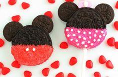 Minnie and mickey oreos!