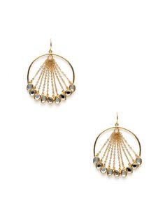 Cascading Gold & Mirror Earrings by Isharya