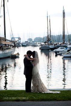 Gorgeous photos of a wedding at the Camden Harbour Inn.