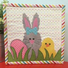 22 easter projects to sew easter projects simple crafts and 7 name quilting easter mug rug combo pack 3 patterns negle Choice Image