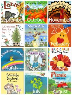 Themed preschool books and activities for each month of the year by monique