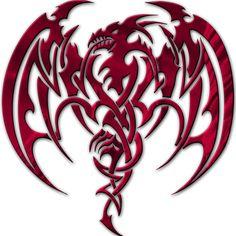 Red Dragon | medieval-hollow-tribal-dragon-head-dragon-tattoo-designs