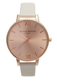 Olivia Burton Big Dial Rose Gold Plated Watch - Mink