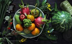 Fruits from Viet Nam... the view from above... by bacsymeconnit