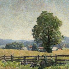 """N.C. Wyeth """"Chadds Ford Landscape–July 1909""""  1909  Oil on Canvas (25 x 30 1/4 in)  Gift of Mr. and Mrs. Andrew Wyeth, 1970  The Brandywine River Museum of Art - Chadds Ford, PA  #NCWyeth #Wyeth #usa #america #american #americanart #madeintheusa #art #arte #kunst #arthistory #artist #painting #artofinstagram #landscape #BrandywineRiverMuseumofArt"""