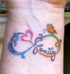 Infinity tattoo. I like this with all of the colors.