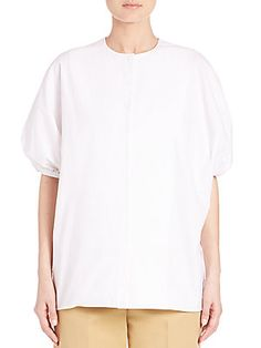 The Row Alley Stretch Cotton Top