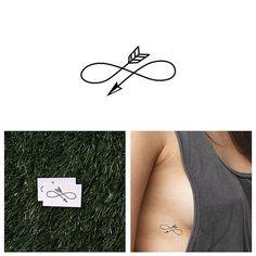 Right Direction  Temporary Tattoo Set of 2 por Tattify en Etsy, $5.00