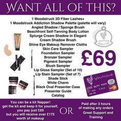 I'm looking for 3 people to join my team Full training & support Friends for life & be part of the Younique family More Confidence Extra Income Work from home or anywhere aslong as you have a mobile/laptop/internet connection Free & half price makeup for life Get paid 3 hours after a sale Many options to choose from, you can even join just for the kit! If you're interested I can send over some information through email.. Or you can join at www.redheartbeauty.co.uk