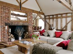 Barn Conversion - country - Living Room - South East - Sarah Finney Interiors