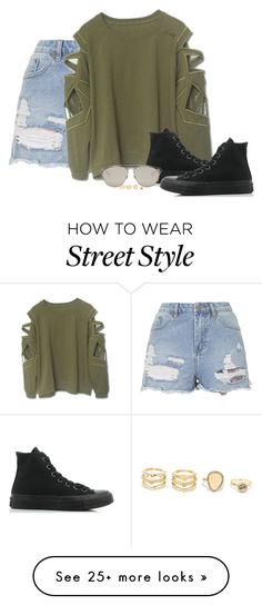 """""""STREET STYLEEE"""" by ayankur on Polyvore featuring Topshop, Converse, LULUS and Christian Dior"""