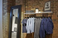 Levi's Line 8 Pop Up Shop in Shoreditch, London UK pop up denim Visual Merchandising, Pop Up, Retail Interior Design, Room Store, Store Interiors, Design Furniture, Go Camping, Stores, Store Design