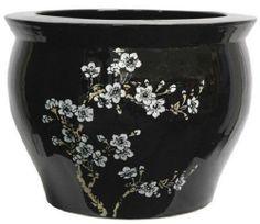 Asian Decor- Classic Japanese Chinese Asian Ceramic Planter