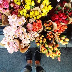 is there anything more luxurious than picking up a bouquet for yourself?