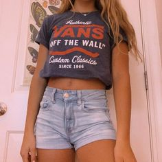 Stylish Outfits for Teens Cute Comfy Outfits, Cute Summer Outfits, Cool Outfits, Teen Fashion Outfits, Outfits For Teens, Trendy Outfits, Mode Ulzzang, Pull Sweat, Vans T Shirt