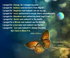 I prayed For #Guidance and learned to #Trust Myself For a #Miracle and realized I am the ONE I #prayed for #Abundance I learned to Allow IT...#Quotes #awareness #VesnaA