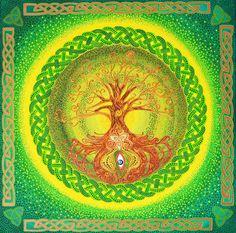 Celtic Tree of Life mandala dot art painting original dot