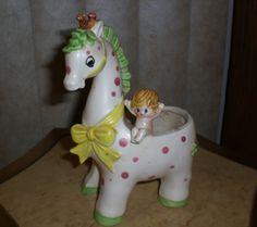 Vintage Napco Napcoware Ceramic Fanciful Giraffe w/Baby Pixie Planter Figurine<br/>Napco - 165490
