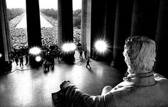 The March on Washington as seen through the Lincoln Memorial