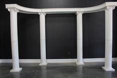 Column Set-up for wedding ceremony