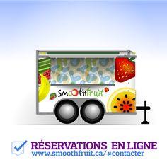 Réservations en ligne  #cuisinederue  #cuisinederuemontreal  #smoothies #foodtrucksmontreal