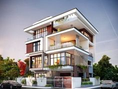 We always try to focus on designing Unique & Unseen Modern House. One such modern home designed by 3 Storey House Design, Bungalow House Design, House Front Design, Home Building Design, Home Design, Modern Small House Design, House Extension Design, House Design Pictures, Modern Bungalow