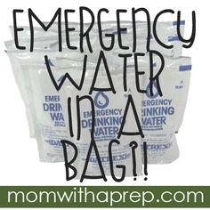 Mom with a PREP | Goodbye Plastic Bottles - there is water in a bag now!  Really? Water in a pouch? That seemed like such an absurd concept to me at the time. Why would you carry water in little plastic pouches? Oh..that's why!!!