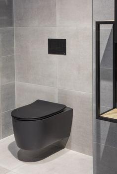 Minimalisticky zařízené koupelny v pánském stylu se stávají trendem moderního bydlení. Jejich chladný betonový vzhled je často zasazen do kontrastu s prvky v industriálním stylu, z kovu či skla. Future House, My House, Home And Living, Bathrooms, Room Ideas, New Homes, Bathtub, Food, Home Decor