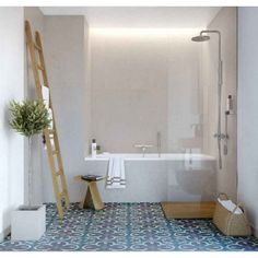 10 Beyond Stylish Small Bathrooms Ideas with Patterned Encaustic Tile  Shower ideas bathroom Bathroom tile ideas Small bathroom decor Master  bathroom remodel ... 66091c2aaa014