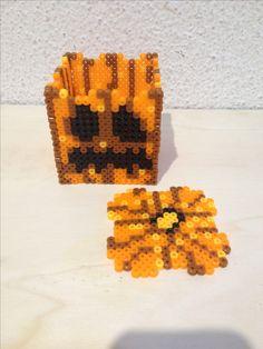 3d hama beads calabazas halloween