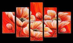 Art Floral, Multiple Canvas Art, Images D'art, Magnolias, Photos Du, Red Flowers, Home Deco, Art Pictures, Pencil Drawings
