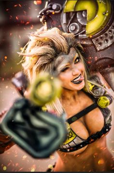 Junkrat from Overwatch by Jessica Nigri @ twitter.com/OJessicaNigri - More at https://pinterest.com/supergirlsart #jessicanigri #cosplay #girl #cosplaygirl #hot #sexy