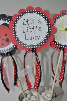ladybug favor tags birthday party favor tags baby shower favor tags thank you tags party decorations set of 12