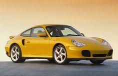 Canary yellow porsche 911 turbo.