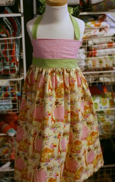This little dress is precious! And comes with a matching doll dress, too.