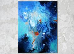 "Huge 36x48 Canvas. Original Abstract Painting. Modern Art.  Title""Orion's Belt"" by R Schoeffel"