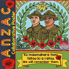 """Collaborative posters are a fun inclusive activity. This ANZAC Poster includes the last line of """"The Ode of Remembrance"""" in te reo Māori. """" Ka maumahara tonu tātou ki a rātou"""". Classroom Environment, Integrity, Kids Playing, Kiwi, Teaching, Activities, Posters, Fun, Education"""