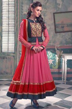 Thankar New Attractive Pink Anarkali Suit #dresses #shopping #womenclothing #online #shopping #dresses #buysalwarkameez #salwarkameez #cheap #fashion