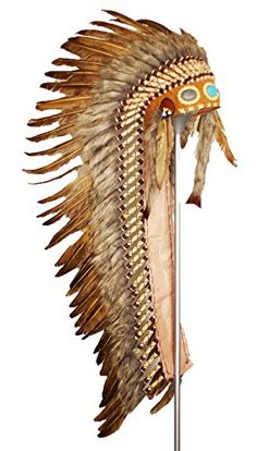 Theworldoffeathers Long Adult Indian Headdress Brown New Native American Pictures, Native American Design, Native American Artists, Native American Fashion, Native American Indians, American Women, Brown Hair Piece, Indian Hat, Native American Headdress