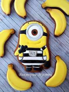 Minion and bananas by Victoria