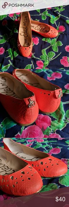 Sam Edelman Flats These flats are in EXCELLENT condition! They show no signs of wear, and the bright peach color adds a pop to any outfit! Sam Edelman Shoes Flats & Loafers