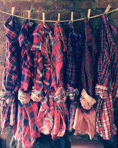 Wholesale Bulk Ombre Bleached Vintage Flannel by cityandsalvage