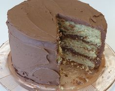 okay, is there anything better than a good old fashioned yellow cake with lots of chocolate frosting????